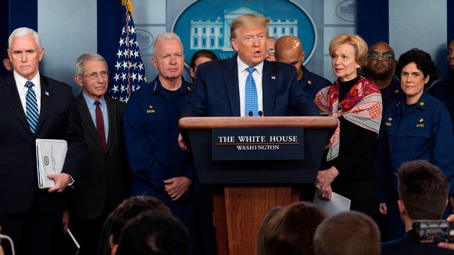 Trump coronavirus presser Getty  2020- H