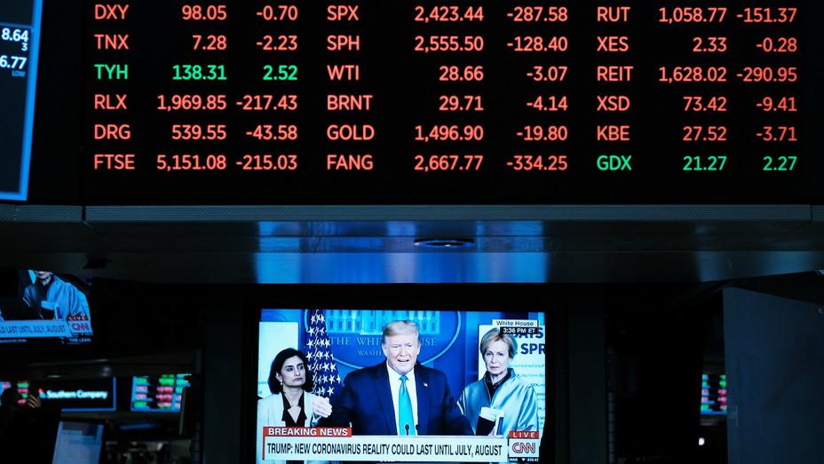 Trump Stocks Coronavirus - March 2020
