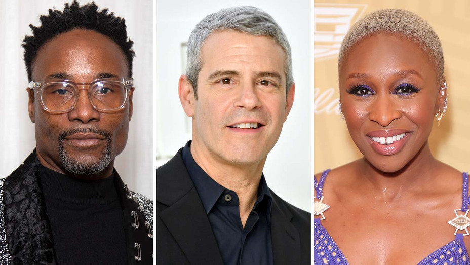 Billy Porter, Andy Cohen and Cynthia Erivo - Getty - Split - H 2020