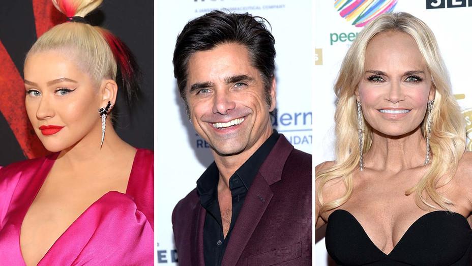 Christina Aguilera, John Stamos and Kristin Chenoweth=Split-Getty-H 2020
