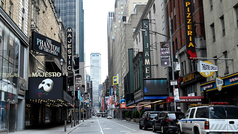Closed broadway theaters during the coronavirus pandemic on April 08, 2020 in New York City - Getty - H 2020