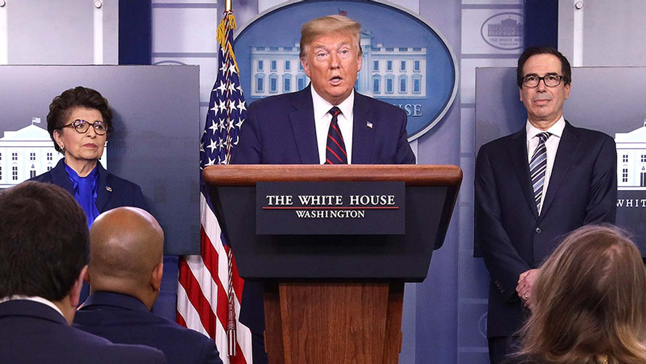 Donald Trump press briefing room along with members of the White House Coronavirus Task Force at the White House April 2, 2020 in Washington, DC. - Getty - 2- H 2020