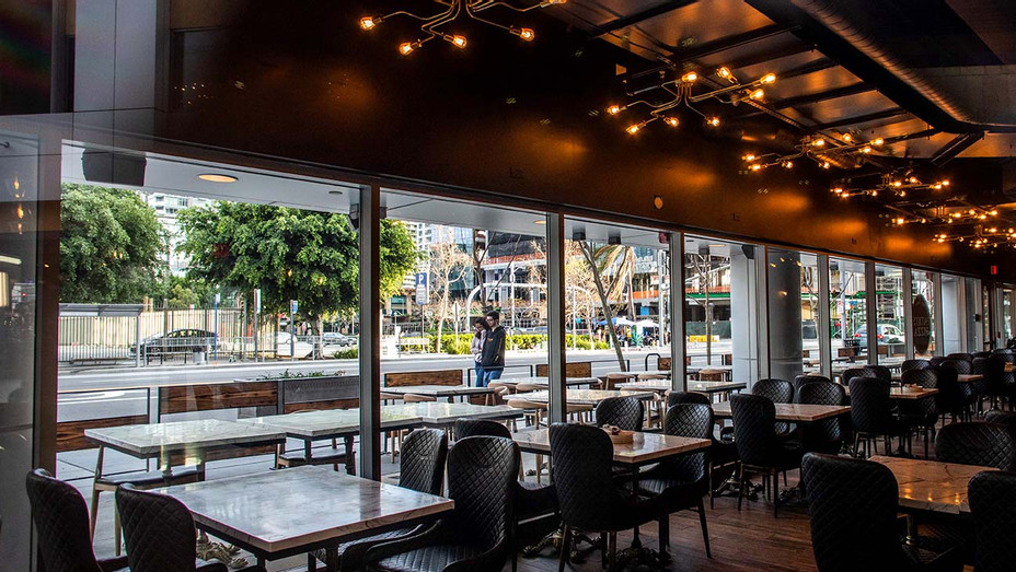 Empty Los Angeles - closed restaurant - corona virus pandemic - Getty - H 2020