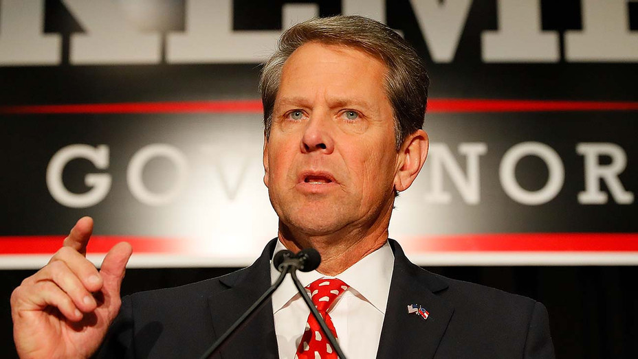 Brian Kemp attends the Election Night event 2018 -Serious- Getty -H 2020