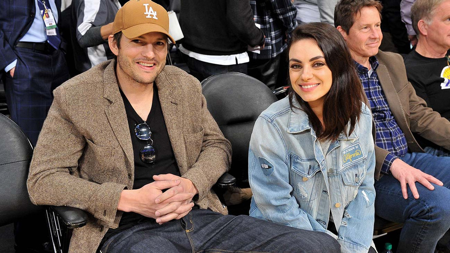 Ashton Kutcher and Mila Kunis attend a basketball game -January 29, 2019-GETTY-H 2020