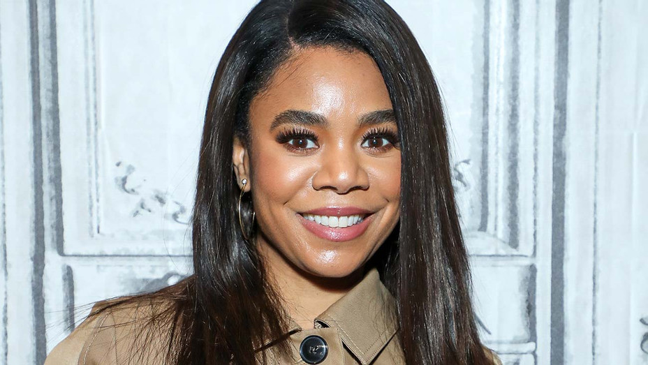 Regina Hall visits at Build Studio on March 12, 2020 - Getty-H 2020