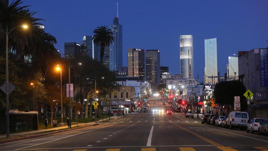 Los Angeles Skyline April 15 2020