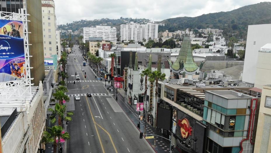 Hollywood Blvd April 18 2020 Los Angeles