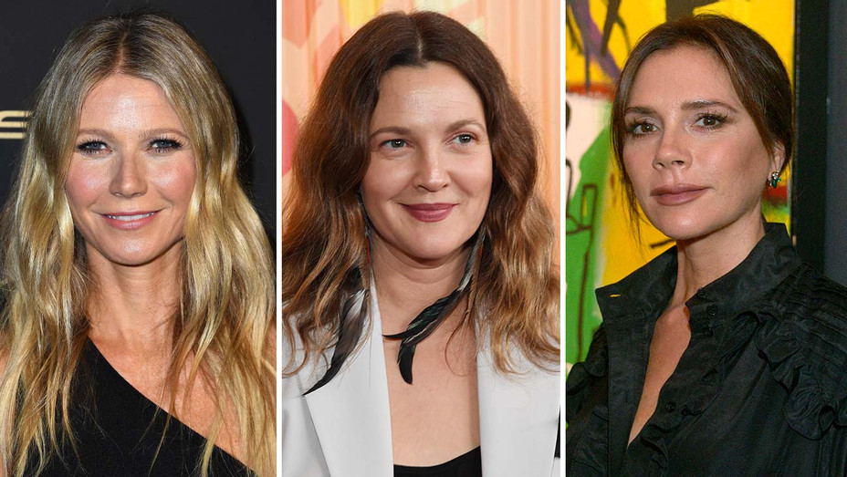 Gwyneth Paltrow, Drew Barrymore and Victoria Beckham - Getty - Split - H 2020