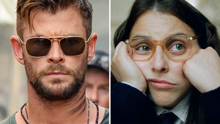 Hemsworth in Extraction and Beanie in How to Build a Girl - Publicity_H 2020