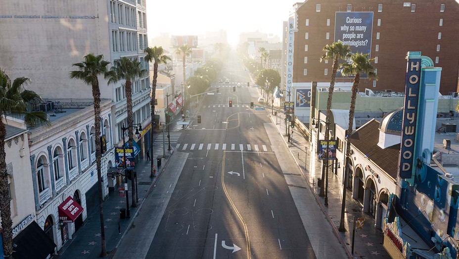 Hollywood Blvd on April 27, 2020 in Hollywood, California during the coronavirus COVID-19 pandemic - Getty - H 2020