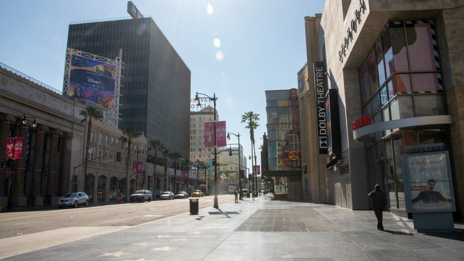 Hollywood Boulevard Los Angeles April 17 2020