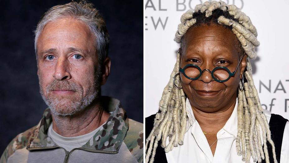 Jon Stewart and Whoopi Goldberg -Split-Getty-H 2020