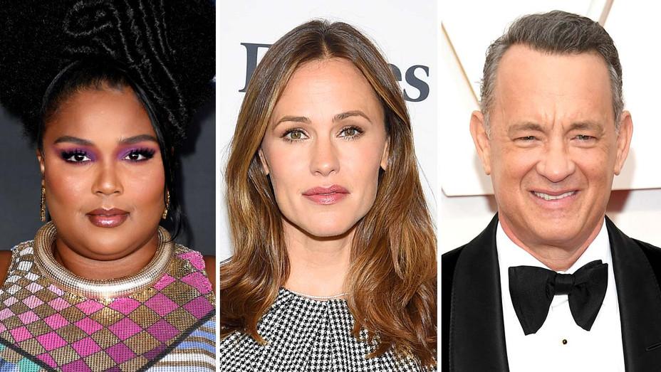 Lizzo, Jennifer Garner and Tom Hanks - Getty - Split - H 2020