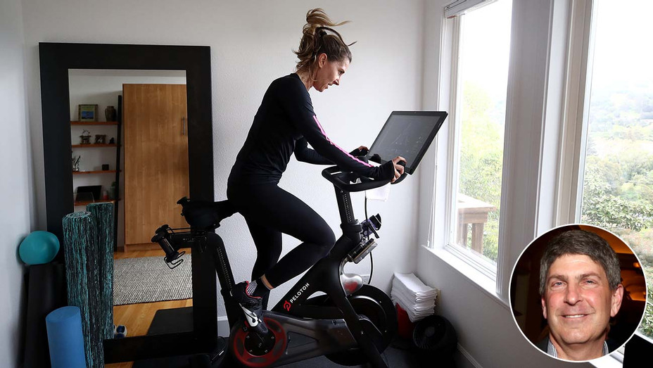 Peloton exercise bike - CEO Jeff Shell - Inset - Getty - H 2020