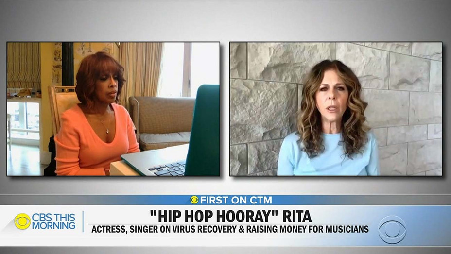 CBS This Morning - Gayle King's interview with Rita Wilson Screen shot- Publicity-H 2020