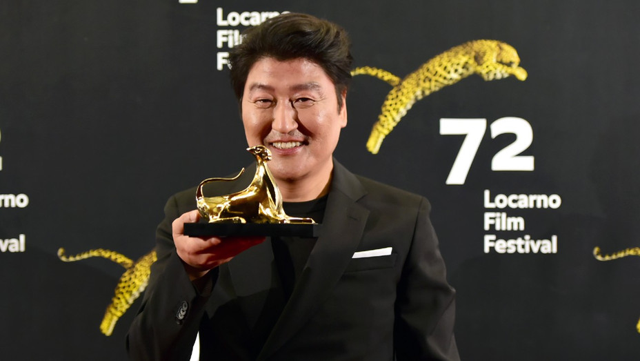 'Parasite' Actor Song Kang-ho Receiving a Lifetime Achivement Award at the 72rd Locarno Film Festival in 2019