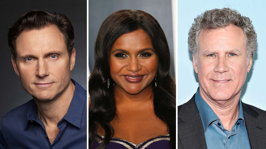 Tony Goldwyn, Mindy Kaling, Will Ferrell - Publicity - Getty - SPlit - H 2020