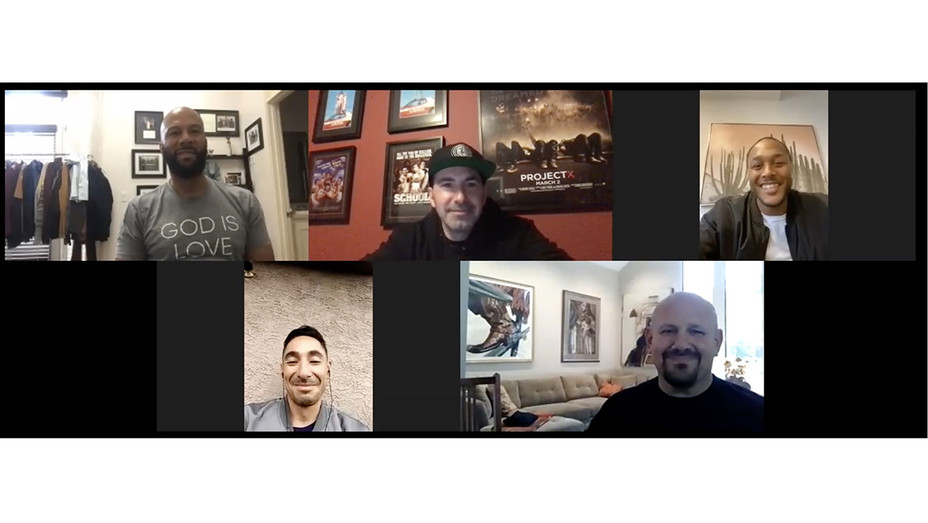 Zoom call with Common and Scott Budnick for CA state prisoners - H Screenshot 2020