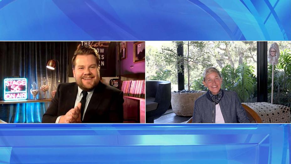 James Corden on The Ellen DeGeneres Show - Warner Bros. Publicity_H 2020