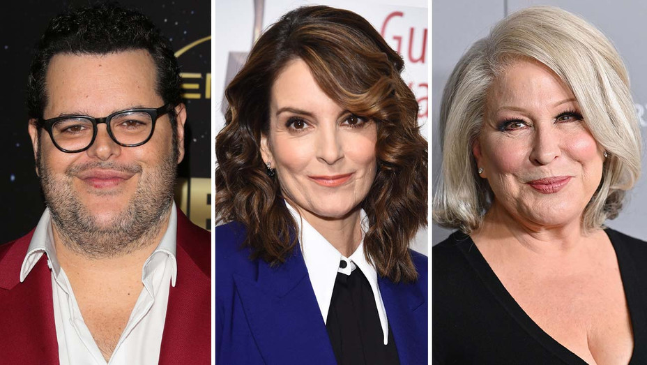 Josh Gad, Tina Fey and Bette Midler - Getty - Split - H 2020