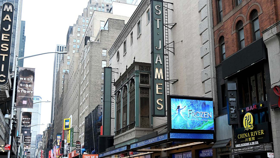 The St. James Theater closed during the coronavirus pandemic on April 08, 2020 - Getty - H 2020