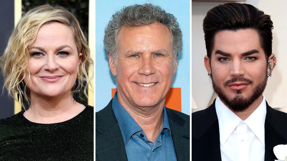 Amy Poehler, Will Ferrell, Adam Lambert - Getty - Split - H 2020