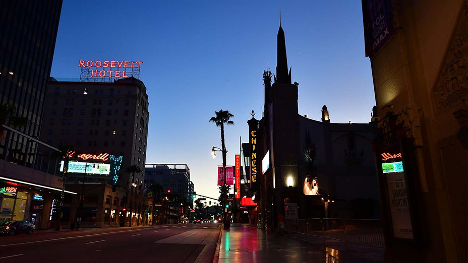 An empty Hollywood Boulevard- May 5, 2020 - Getty - H 2020