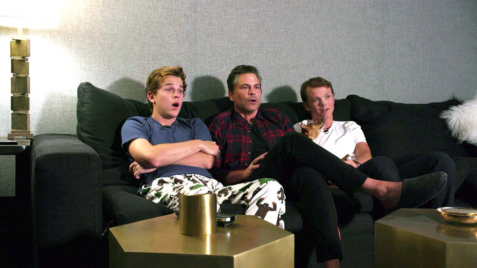 Celebrity Watch Party - Rob Lowe and sons - Publicity still - H 2020