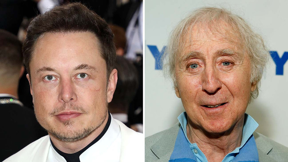 Elon Musk - Gene Wilder - Getty - Split - H 2020