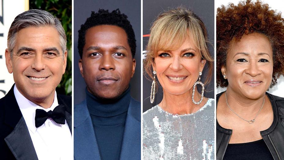 George Clooney, Leslie Odom Jr., Allison Janney, Wanda Sykes- Getty - Split - H 2020