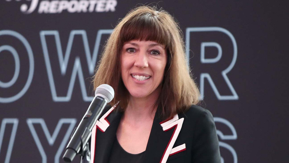 Eve Konstan speaks onstage during The Hollywood Reporter Power Lawyers Breakfast 2019-  Getty -H 2020