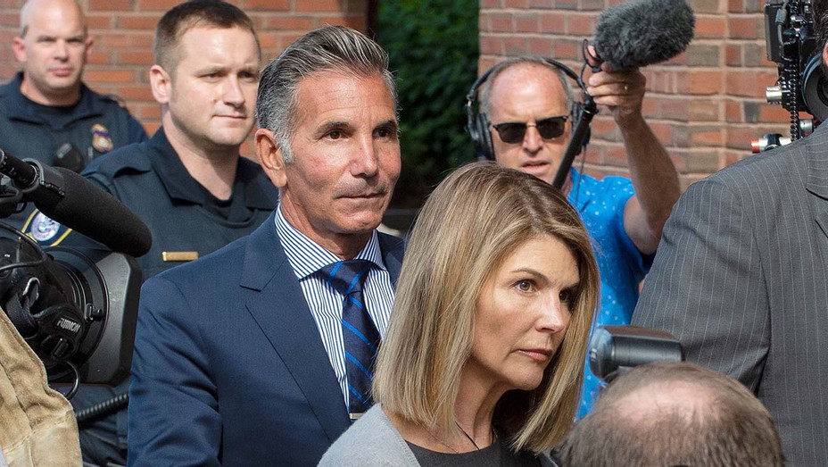 Lori Loughlin and husband Mossimo Giannulli -Boston Federal Court house-August 27, 2019-Getty-H 2020