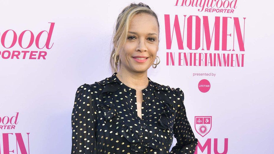 Victoria Mahoney attends The Hollywood Reporter's Annual Women in Entertainment Breakfast Gala - H 2020