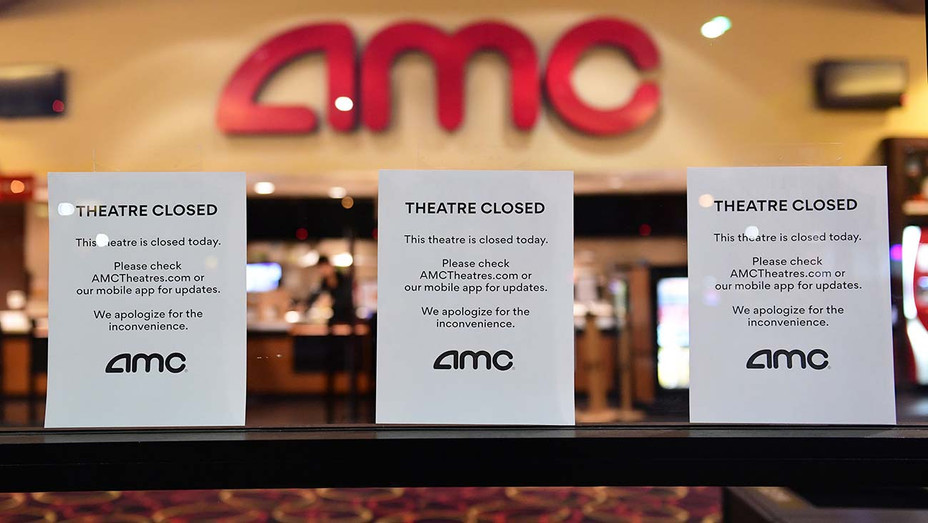 AMC -Theater Closed signs are posted in front - March 17, 2020- Getty-H 2020