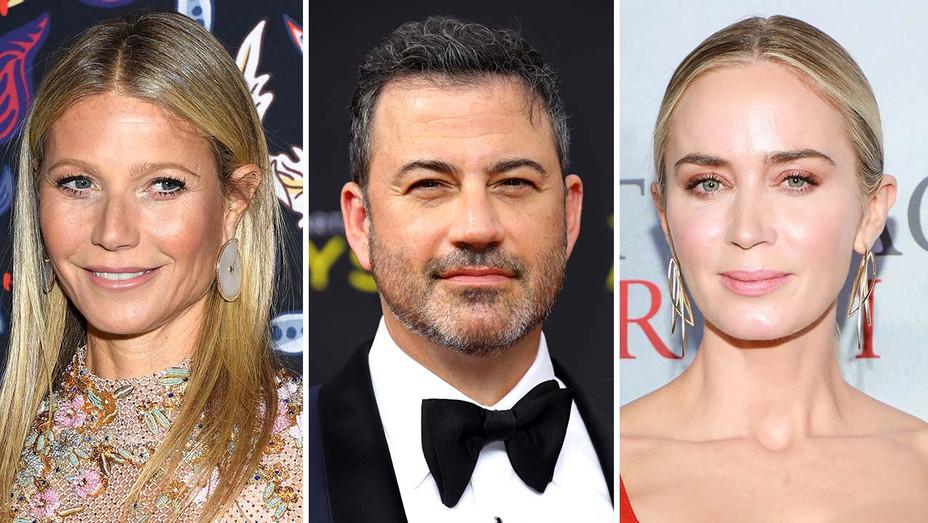 Gwyneth Paltrow, Jimmy Kimmel and Emily Blunt - Getty - Split - H 2020