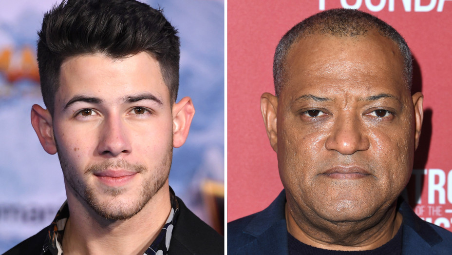 Nick Jonas, Laurence Fishburne Split - Getty - 2020