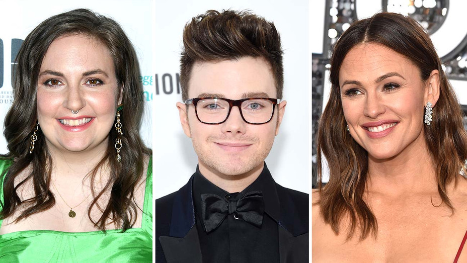 Lena Dunham, Chris Colfer, and Jennifer Garner - Getty - Split - H 2020