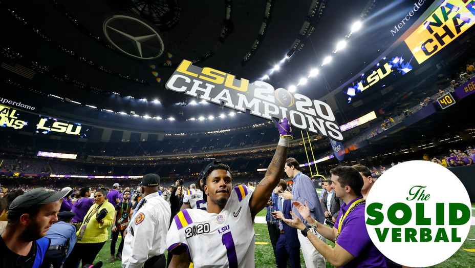 LSU 2020 National Champion College Football The Solid Verbal Podcast