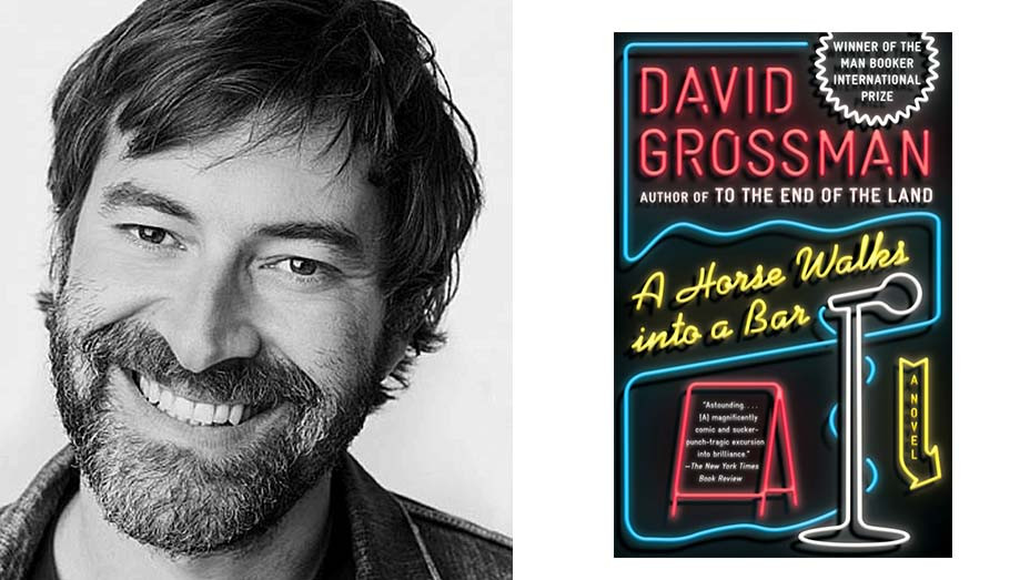 Mark Duplass and Cover of book A Horse Walks Into a Bar -Split- Publicity_H 2020