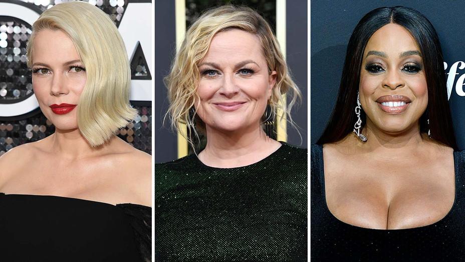 Michelle Williams, Amy Poehler, Niecy Nash - Split-Getty-H 2020