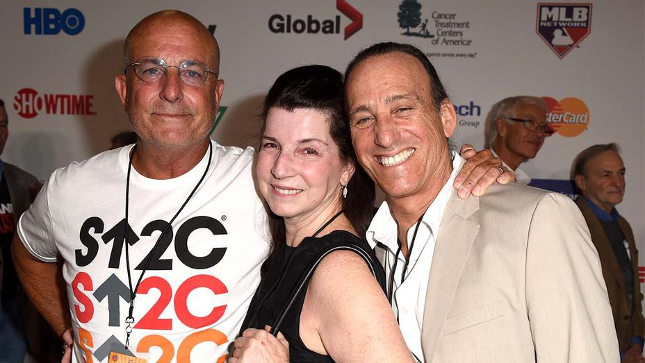 PR team Larry Winokur, Nanci Ryder and Paul Baker of BWR - Getty - H 2020