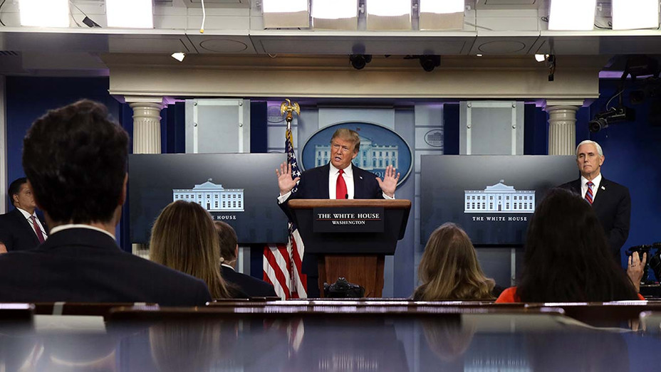 President Donald Trump speaks during the daily briefing of the White House Coronavirus Task Force - Getty - H 2020
