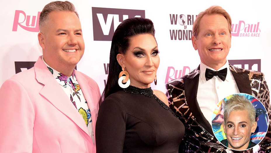 Ross Mathews, Michelle Visage and Carson Kressley - Actor Frankie Grande- Getty- Inset - H 2020