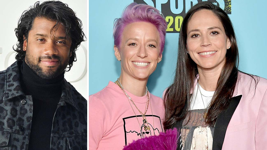 Russell Wilson, Megan Rapinoe and Sue Bird- Split-Getty -H 2020