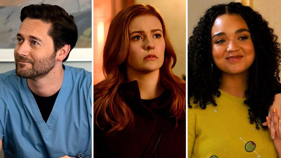 Ryan Eggold on New Amsterdam (NBC), Kennedy McCann on Nancy Drew (CW) and Aisha Dee from The Bold Type (Freeform) - Publicity stills - Split - H 2020