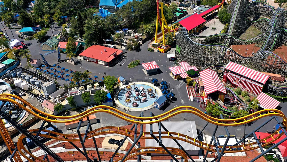 Six Flags Discovery Kingdom on April 15, 2020 in Vallejo, California - coronavirus - COVID-19 virus - Getty - H 2020