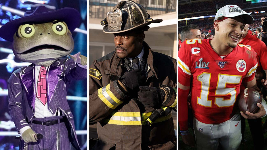 The Masked Singer (Fox), Chicago Fire (NBC) and Patrick Mahomes from the Kansas City Chiefs -Split-H 2020