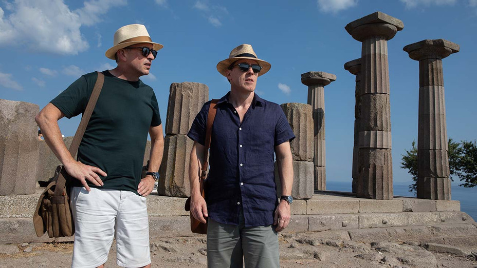 The Trip to Greece Still 1 -Steve Coogan and Rob Brydon- IFC Film Publicity_H 2020