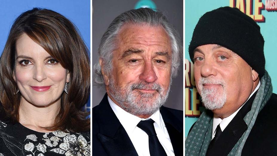 Tina Fey, Robert De Niro and Billy Joel - Getty - Split - H 2020